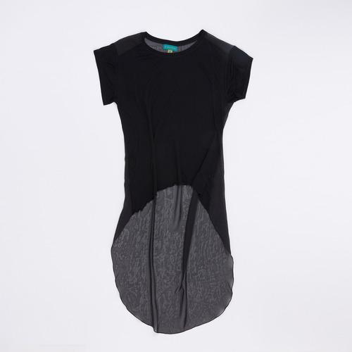 blusa irregular gasa negro blbell14l/13 tienda oficial
