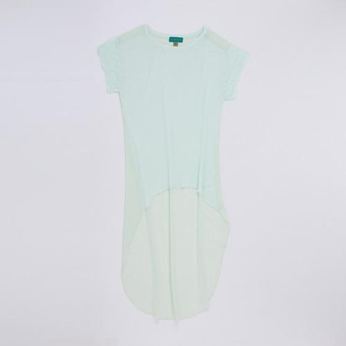 blusa irregular gasa verde blebell41l/99 tienda oficial