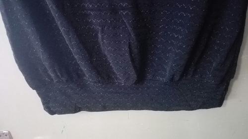 blusa negra straples tela tipo acetato marca spy talle m