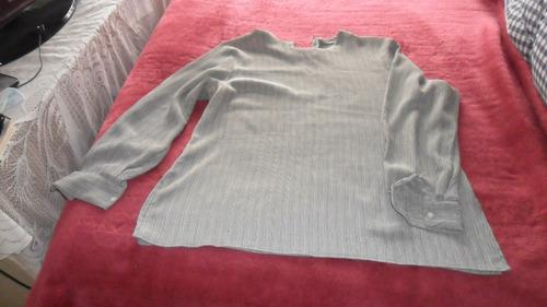 blusa para señora, muy sobria talle 50, manga larga con puño