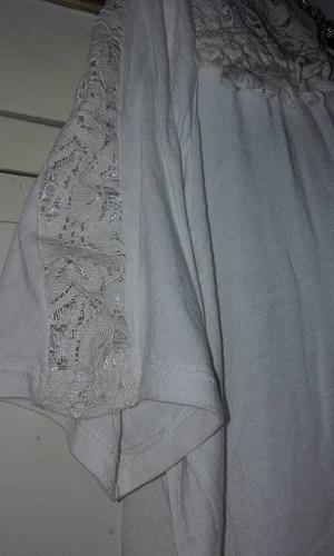 blusa plus size xxxl color manteca