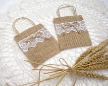 bolsa arpillera souvenir envase bodas 15 baby shower empresa
