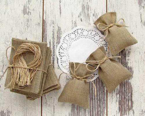 bolsa arpillera souvenirs bodas,nacimiento,  baby ,15 años