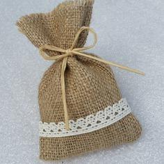 bolsa arpillera souvenirs bodas,nacimiento baby shower.,15 ,