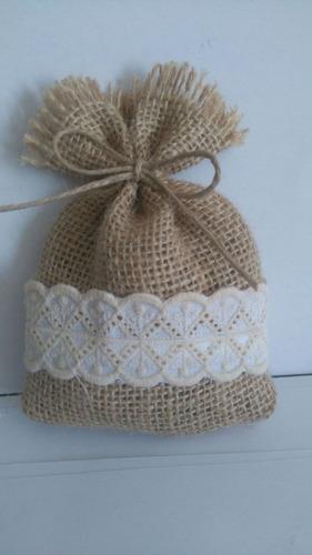 bolsa arpillera souvenirs perfumador bodas, nacimientos,15