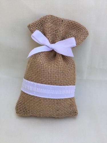 bolsa arpillera souvenirs perfumador bodas,nacimiento, 15,