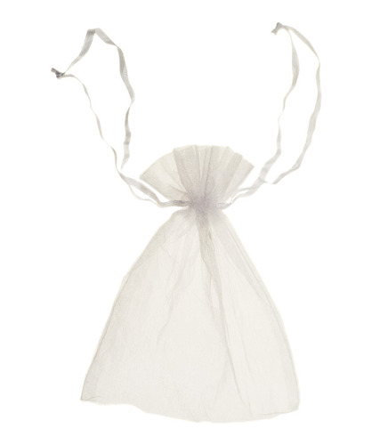 bolsa bolsita de organza blanco 9x15 cm