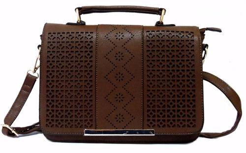 bolsa couro feminina festa - pasta transversal. ref: 206