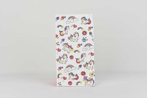 bolsa papel regalo sin asas ideal sorpresita unicornios