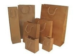 bolsa papel tienda - 32x45x11 x100 uni. bajaron los precios!