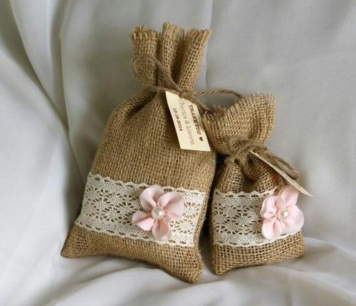 bolsa souvenirs arpillera