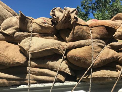 bolsas de arpillera atados de 25 bolsas usadas semilla papa