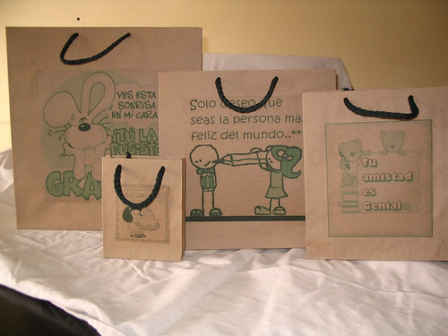 bolsas de papel 100% artesanales