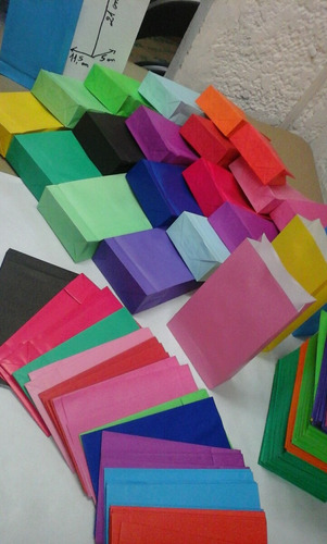 bolsas de papel  color $10