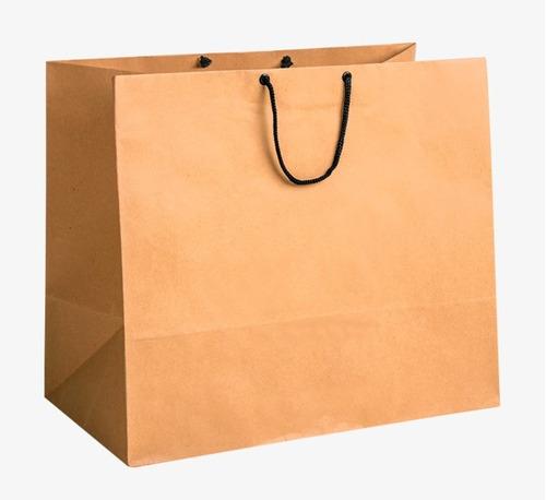 bolsas de papel kraft  20 x 30 fuelle 8 cms.