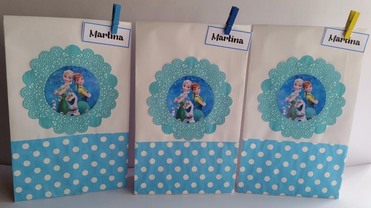 bde1059e1 bolsas de papel para sorpresitas de frozen personalizadas. Cargando zoom.