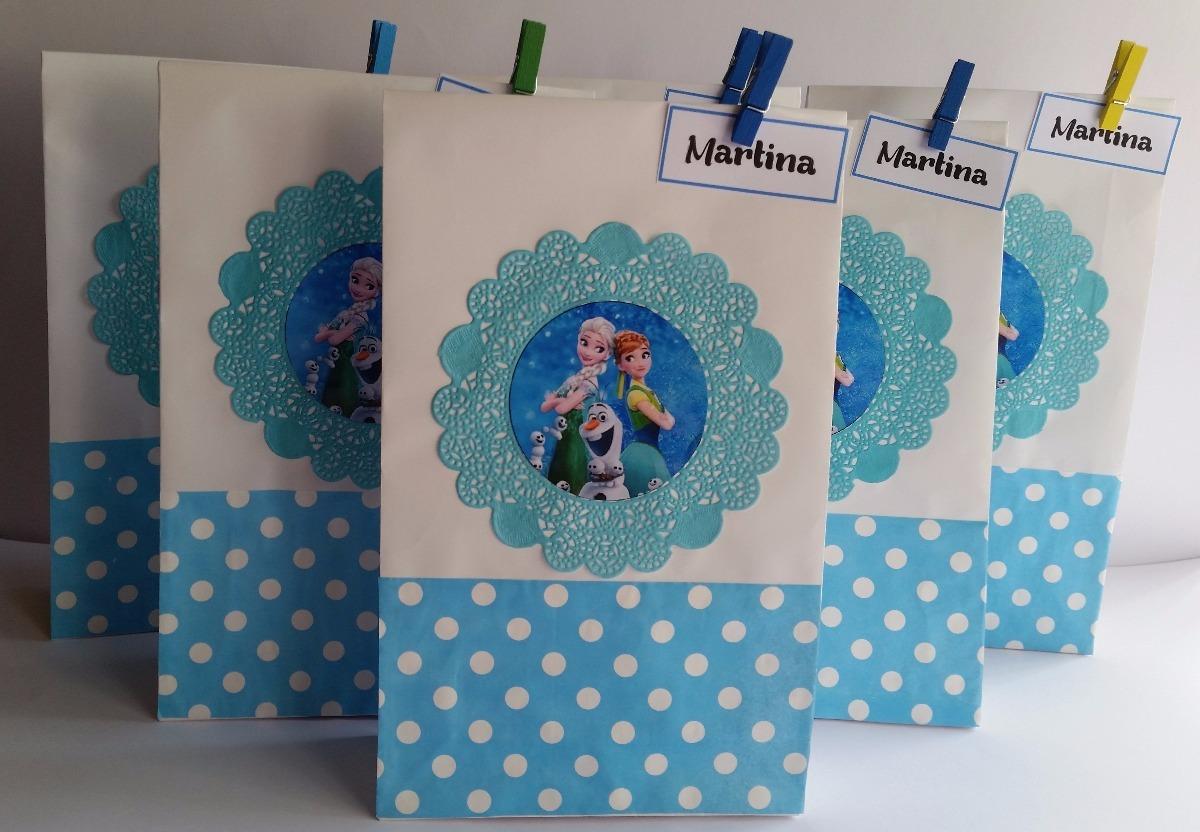 643ad8009 bolsas de papel para sorpresitas de frozen personalizadas. Cargando zoom.