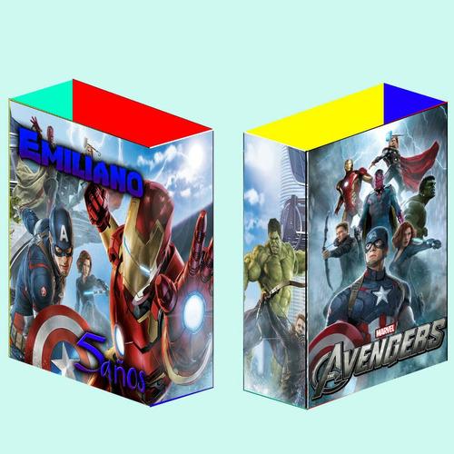 bolsas para golosinas avengers vengadores personalizadas