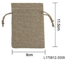 bolsita de arpillera souvenirs regalos medida 9x11 cm - 3009