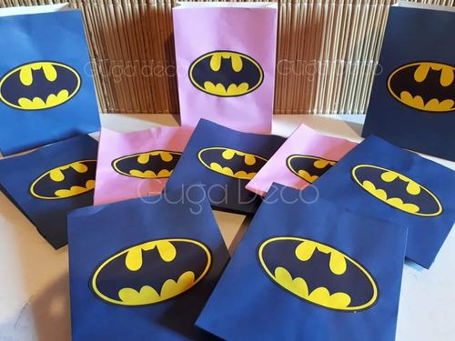 bolsitas para sorpresitas cumpleaños batman