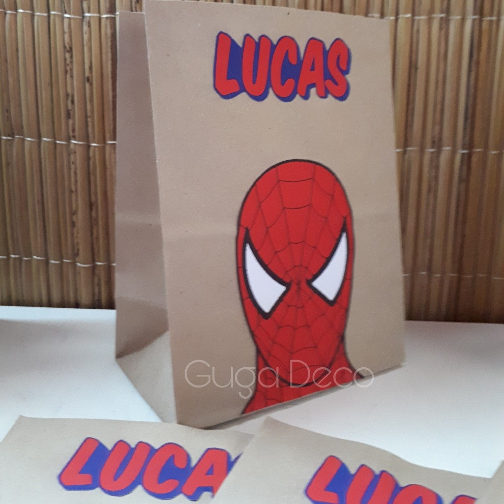 Bolsitas Para Sorpresitas Spiderman El Hombre Araña
