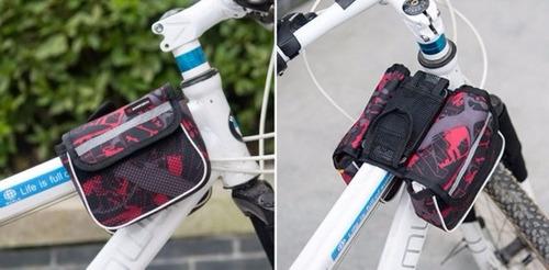 bolso de bicicleta con mini alforjas