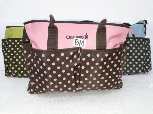 bolso maternal con accesorios