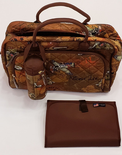 bolso maternal nicole lee cambiador y accesorios dia11647