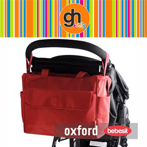 bolso maternal oxford bebesit rojo azul o marrón en gh