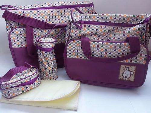 bolso maternal set 5 piezas la mejor calidad