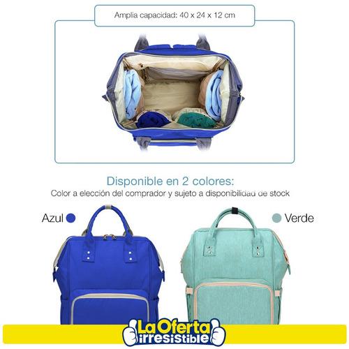 bolso mochila maternal swiss armor con cambiador oferta loi