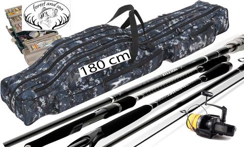 bolso mochila para cañas pesca de 180 cm. camuflado