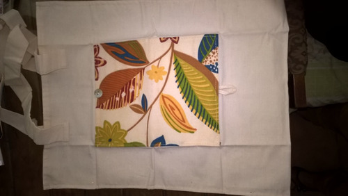 bolsos plegabes de lienzo y tela tapicera. artesanales