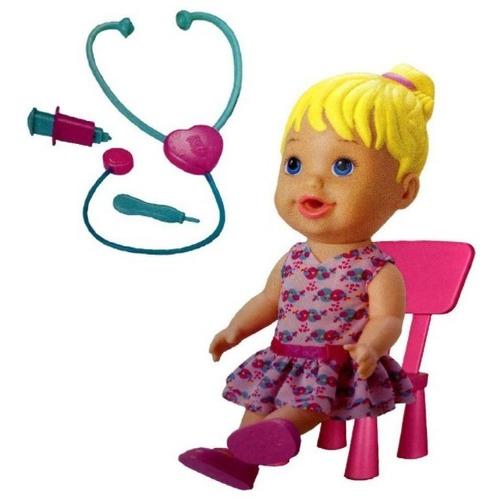 boneca doutora com acessórios loira divertoys 8004