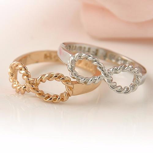 bonito anillo de epoca retro-gótico - infinito