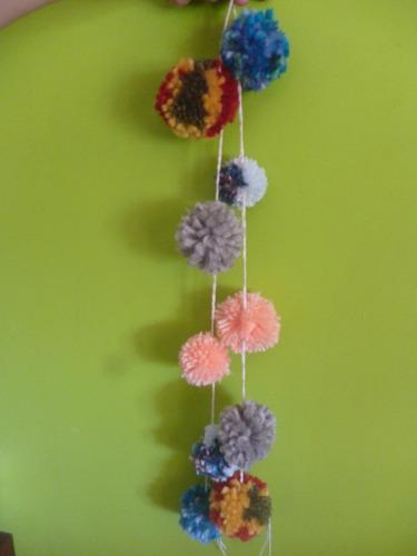 borlas de lana o hilo decorativas colores lisos o combinados