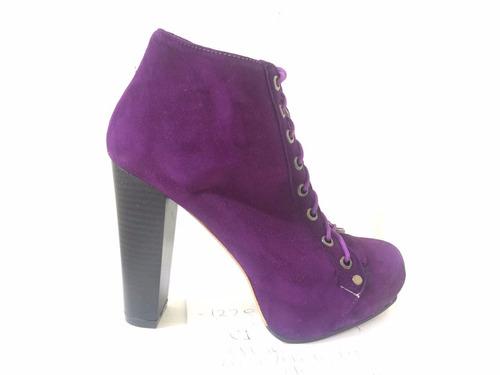 bota acordonado de cuero marcel calzados (cod.13311) violeta