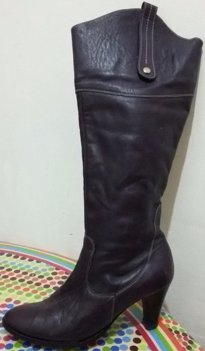be50f70e317 bota de cuero de dama de caña alta. Cargando zoom.