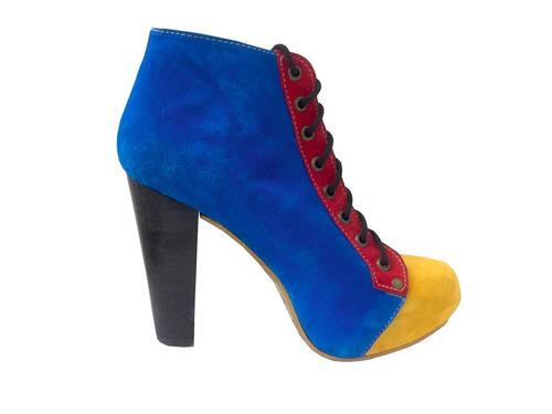 bota de cuero marcel calzados (cod.13311) multicolor.