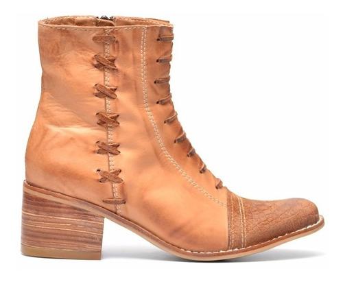 bota de cuero marcel calzados (cod.16555) terracota.