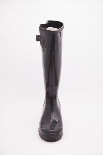 bota de lluvia para dama + caña alta + elegante