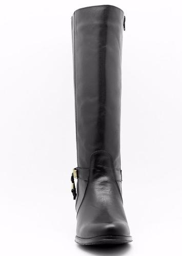 bota feminina montaria atron shoes 9115--frete grátis