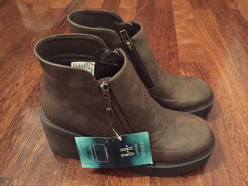 botas cortas marrón oscuro