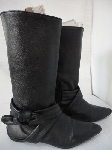 botas dama cuero, media caña, sin forro, talla 35