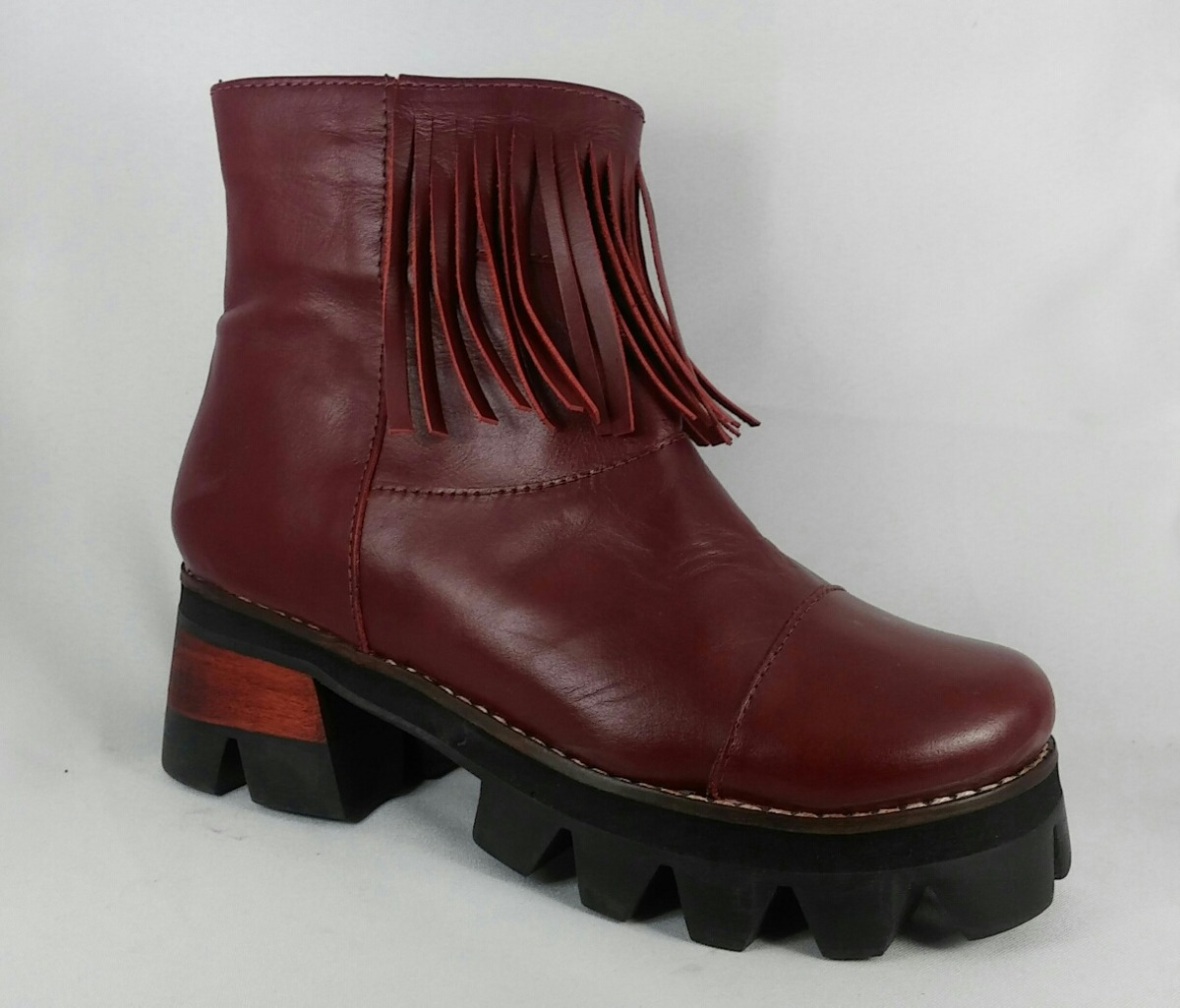 000ba68db7719 botas de cuero para dama con flecos. Cargando zoom.