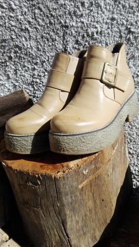 botas de plataforma de dama