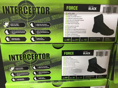 botas tácticas interceptor force tallas envíos gratis negras
