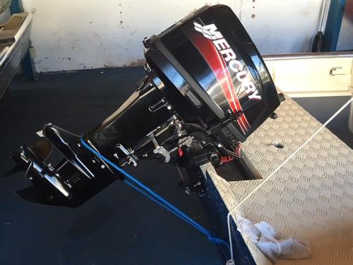 bote aluminio black bass 5.0 con mercury 30 hp  como nuevo