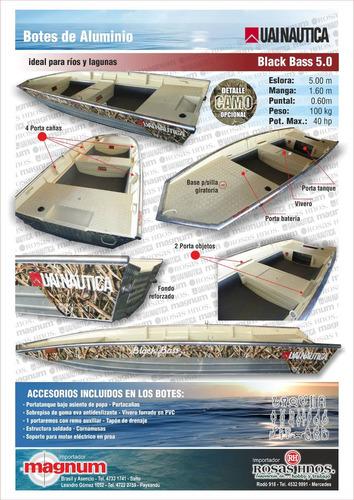 bote aluminio uai mod black bass 500