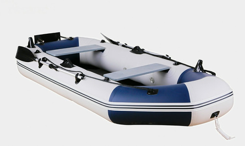 bote inflable con motor 2,5 hp gomon 4 personas pesca